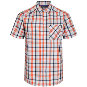 Regatta Mindano IV Camisa Manga Corta Hombre, blaze orange check